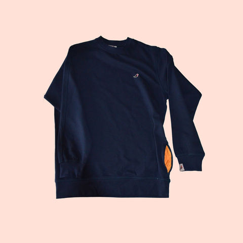 Zipper,Sweat,Navy.....,sweatshirt, long sleeve polo shirt, aguycalledminty , brand , casual , football, fashion ,, terraces , hawk, logo, music