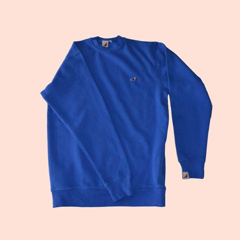 Zipper,Sweat,Royal,BLue.....,sweatshirt, long sleeve polo shirt, aguycalledminty , brand , casual , football, fashion ,, terraces , hawk, logo, music