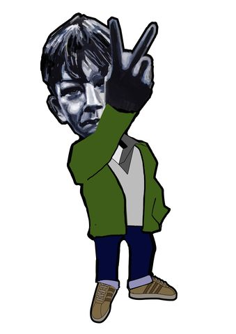 Kes..,pin,badge.,PREORDER,due,end,of,Oct.,Kes. Bily Casper , desert trek , adidas, tobacco' , Casual, Banksey, peter storm, this is our culture, Norman Walsh, aguycalledminty , pin badge , illustration