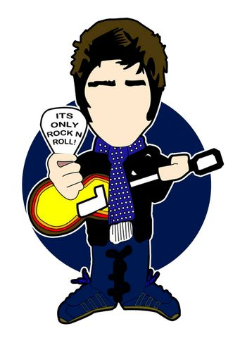 Its,only,Rock,n,Roll..,NOEL,inspired,Pin,Badge,Set...,oasis, aguycalledminty, illustrations, pin badge, liam gallagher, noel gallagher, madchester, music.