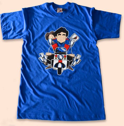 Jimmy,Quadrophenia,Tshirt,royal,blue.,quadrophenia , jimmy , mod , rockers , vespa , lambretta , aguycalledminty, madchester, illustration , design