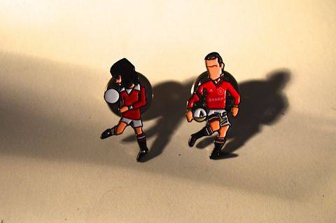 The,7s,pin,set...,man utd, cantons, george best, aguycalledminty, artwork, illustration, pin badge, design, fashion, music , football, terrace , casual football.