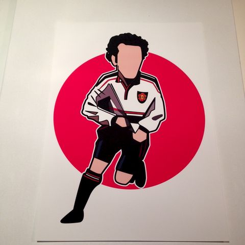 Giggs,'99,print.......,Ryan Giggs , Man Utd , Manchester united , football wfa , aguycalledminty , illustration
