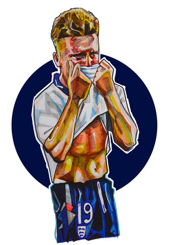 Gazza,One,night,in,turin....,print.....,gazza, paul gascoinge, football, italia 90  ,  aguycalledminty, illustration,football , casual, vespa, legend, music , one love, I shot the sherif.