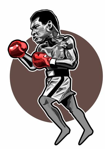 Ali,print.......,muhammed ali , boxing , hooligan , film  , aguycalledminty , football , casual .