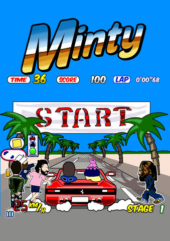 OUTRUN,Print,outrun , sega , film , arcade , game , classic  , illustraion , design , aguycalledminty