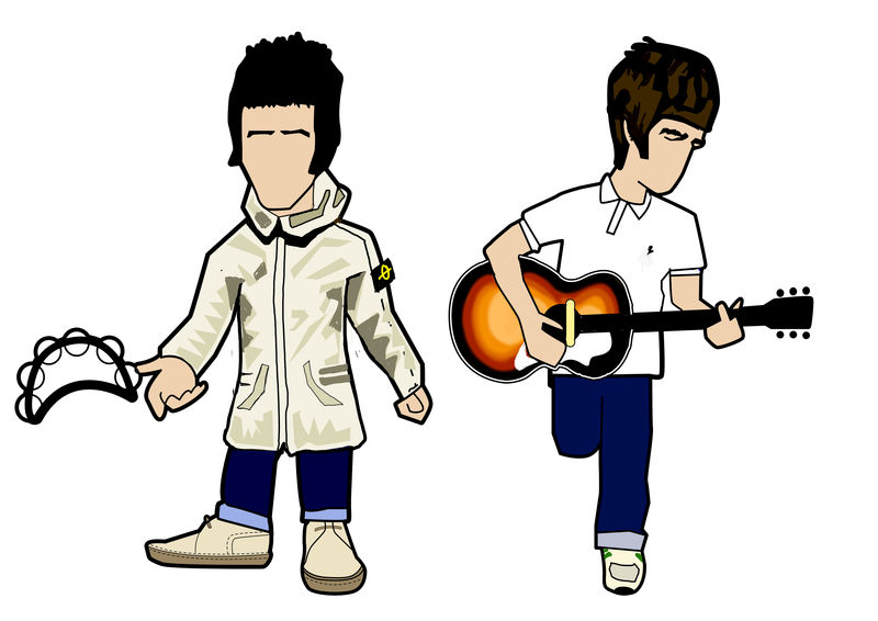 Liam & Noel pin badge set.... - product images  of