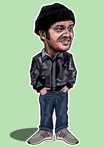 McMurphy,Film,Line,Print........,Mcmurphy , one flew over the cuckoos nest  , film  , illustration , design , nut house , mcmurphy