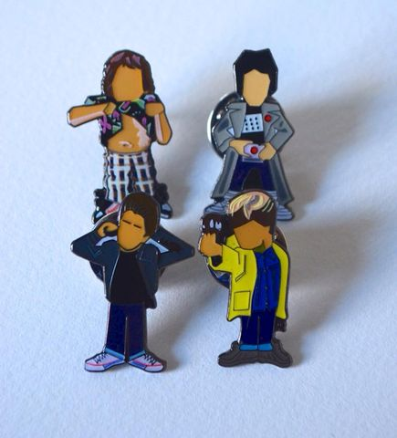 Goonies,pin,set.....,Goonies , Data , Chunk ,Mikey , data , aguycalledminty , illustration , pin badge , design
