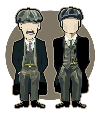 Peaky,Blinders,...........,Print..,Peaky Blinders , illustration , design , art , artwork , world cup , pirlo , laudrup , gazza , zidane , rush , souness , gullit , puyol