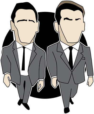 The,Krays,...........,PIN,SET,PREORDER.,the krays ,ronnie kray ,reggie kray , illustration , design , art , artwork , world cup , pirlo , laudrup , gazza , zidane , rush , souness , gullit , puyol