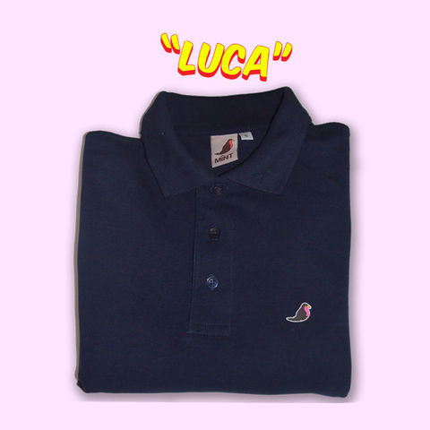 Luca,Long,Sleeve,Pique,Polo........,Polo shirt, long sleeve polo shirt, aguycalledminty , brand , casual , football, fashion ,, terraces , hawk, logo, music