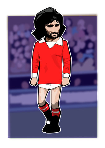George,Best,Print........,manchester united , george Best, football , french , illustration , design , artwork , love