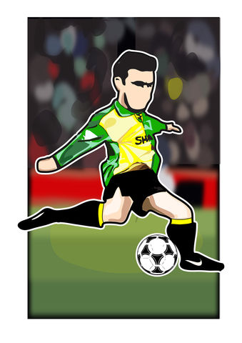 Cantona.2,Print........,manchester united , george Best, football , french , illustration , design , artwork , love