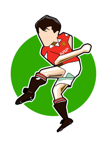 Bryan,Robson,Print........,manchester united , george Best, football , french , illustration , design , artwork , love