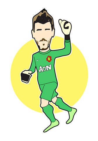 De,Gea,Print........,manchester united , george Best, football , french , illustration , design , artwork , love