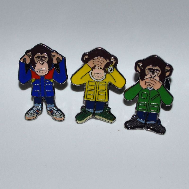 Three wise monkeys  pin set - product images