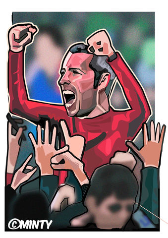 Cardiff,City,Mcnaughton,Print.,Cardiff City , FA CUP , Pele , bobby moore , world cup 1970 , italia 90  , Euro 2016 , together stronger , don't take me home Gareth Bale , aaron ramsey , joe allen , joe medley, illustration , artwork , football , Wales , faw , v