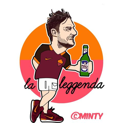 Totti,so,long,print..,Totti , Roma , football , Music , hacienda , joy division , new order , unknown pleasures , factory records , subculture , together stronger , don't take me home Gareth Bale , aaron ramsey , joe allen , joe medley, illustration , artwork , Wale