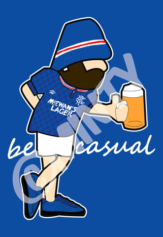 Rangers,BE,CASUAL,Print.,Glasgow rangers , rangers  , Football , football league , illustration , design , be casual