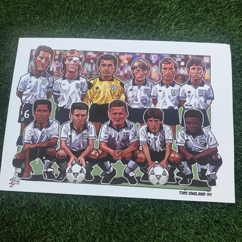 England 90 Print.  - product images  of