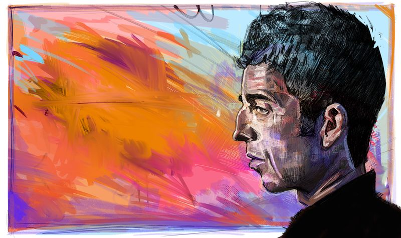 Noel  Gallagher abstract....... - product images