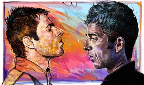 Brotherly,love,abstract.......,Noel Gallagher ,Liam Gallagher , oasis , music ,Manchester , Noel Gallagher   , Football , football league , illustration , design , be casual
