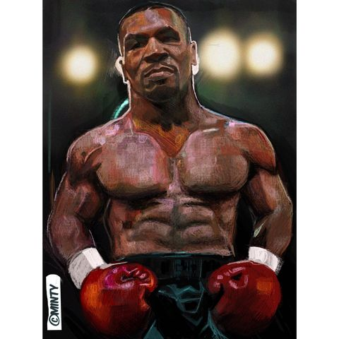 Tyson,print.......,mike Tyson , iron mike  , boxing , Wales  , illustration , design , be casual