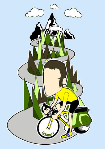 Wiggo,the,mod,Inspired,Print,Illustration, bradley wiggins, cycling, tour de france, gold medalist, aguycalledminty