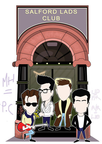 The,Smiths,Salford,lads,inspired,print,Aguycalledminty, THe Smiths, morrissey,  madchester, music, illustration.