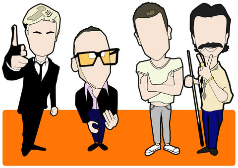 Trainspotting,inspired,print,Aguycalledminty, spud, sickboy, renton , begbie , trainspotting,  madchester, music, illustration.
