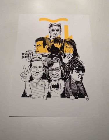 The,Factory,Print,A3,print.....,Factory records ,tony wilson, aguycalledminty, illustration, eranmus, saville , cummings, gretton