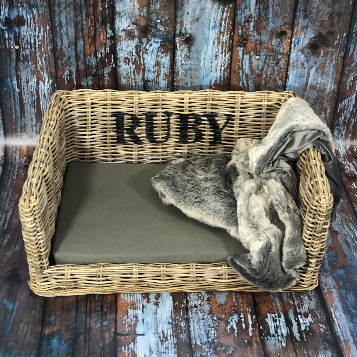 Personalised Luxury Dog Basket -  FREE UK DELIVERY - product images  of