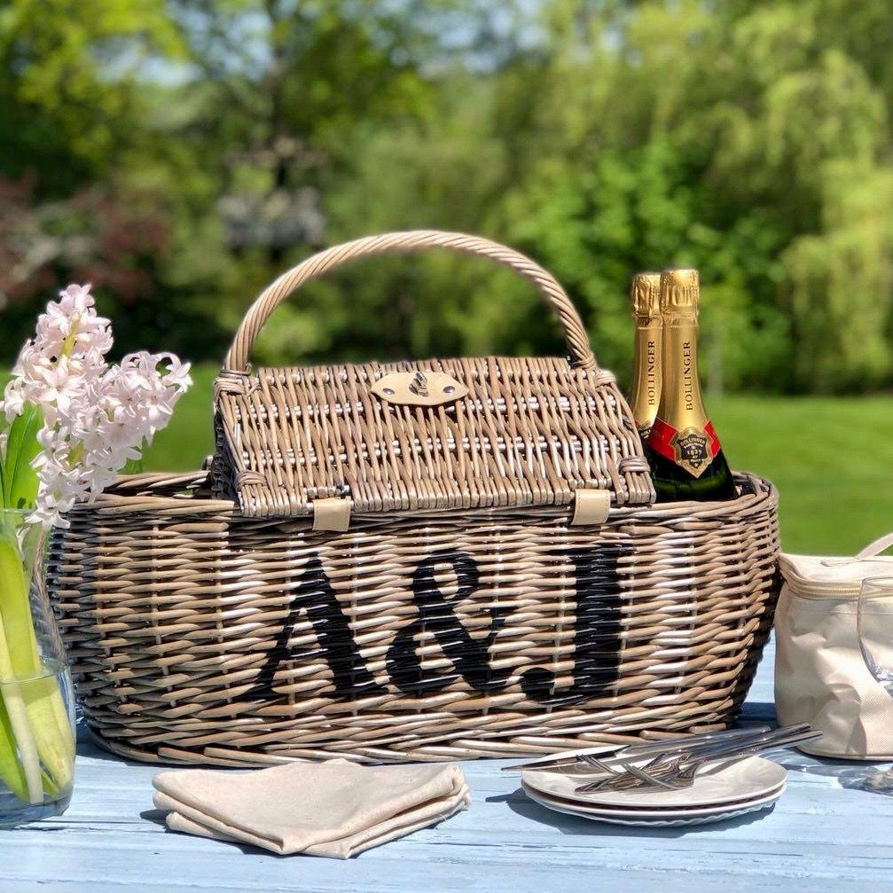 Personalised Four Person Boat Hamper Picnic Basket - FREE GIFT WRAP & UK DELIVERY - product images  of