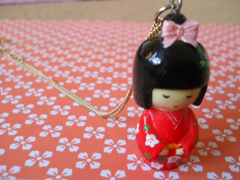 Red Kimono Necklace - product images  of