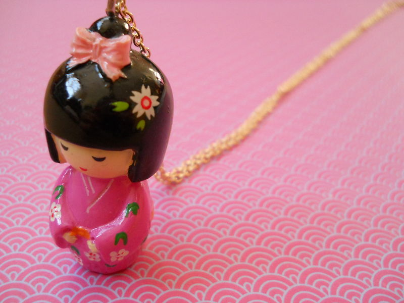 Pink Kimono Necklace - product images