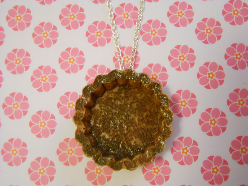 Chocolate Pastry Tart Necklace - product images  of