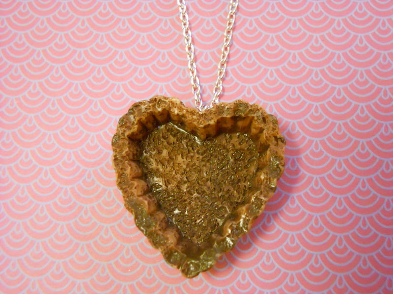 Chocolate Heart Pastry Tart Necklace - product images  of