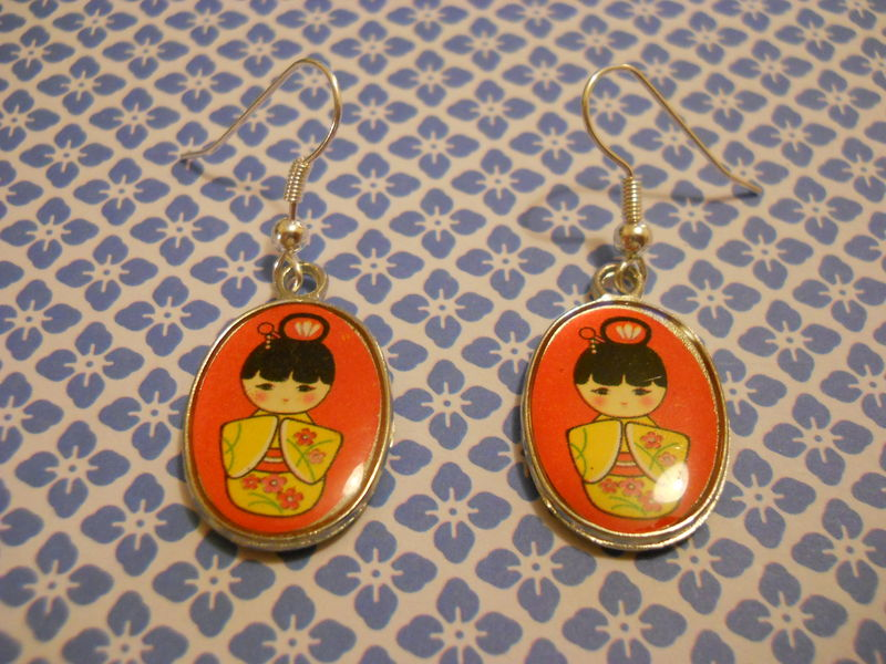 Red Geisha Earrings - product images