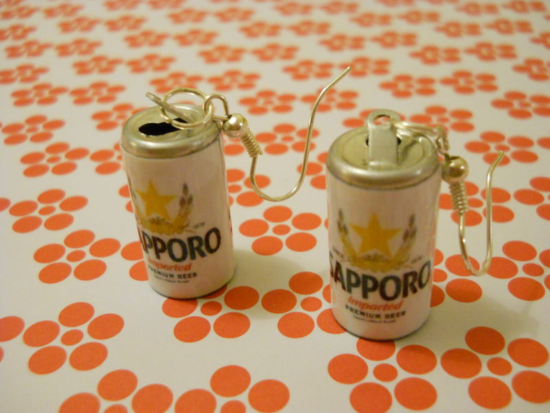 Sapporo Japanese Beer Earrings - product images  of
