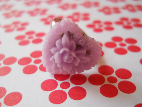 Lilac,Heart,Flower,Ring,harajuku kawaii lilac heart shaped love rose flower silver ring jewellery