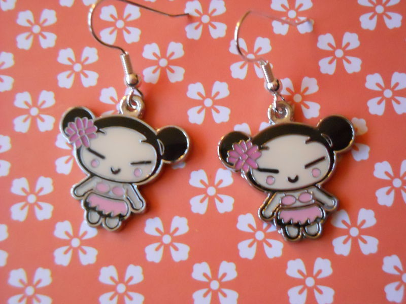 White and Pink Harajuku Lovers Earrings - product images