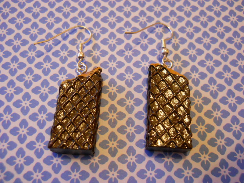 Chocolate Wafer Earrings - product images