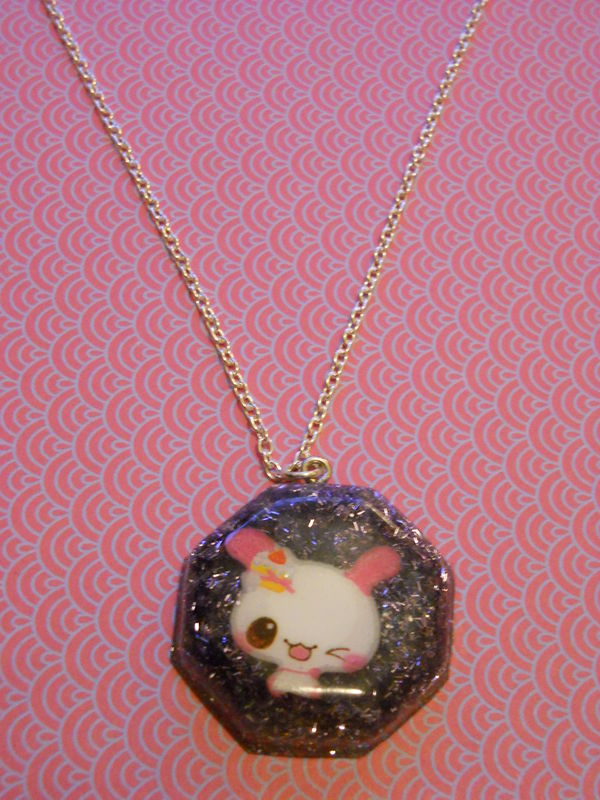 Purple Rabbit Octogan Necklace - product images  of