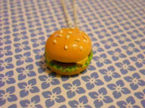 Burger,Necklace,Super kawaii food mcdonalds burger pendant silver gold necklace chain cute pendant