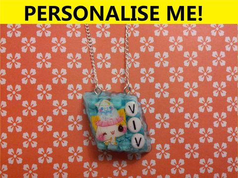 Personalised,Askew,Chocolate,Diamond,Necklace,personalised jewellery, kawaii jewellery, customised jewellery, personalised necklace, heart necklace, double whammy necklace, harajuku boutique necklace, harajuku boutique, name necklace, design your own jewellery