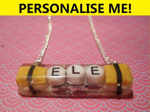 Personalised,Long,Rectangle,Necklace,personalised jewellery, kawaii jewellery, customised jewellery, personalised necklace, heart necklace, double whammy necklace, harajuku boutique necklace, harajuku boutique, name necklace, design your own jewellery