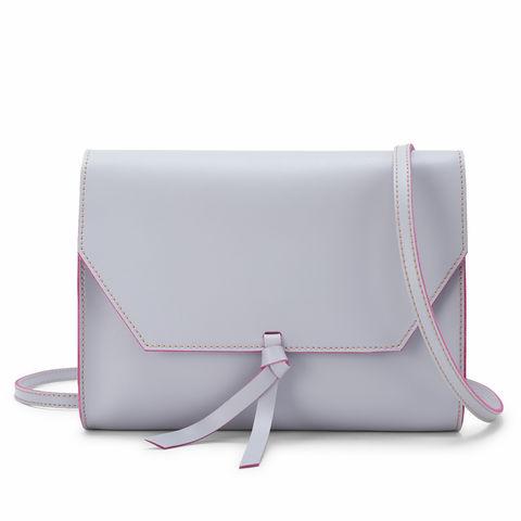 Crossbody Clutch Grey Pink Alexandra De Curtis