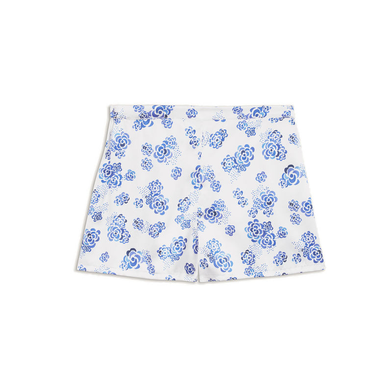 Clouds print silk Shorts - product images  of