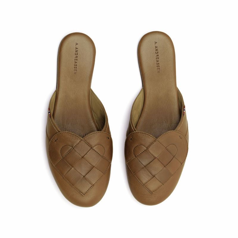 Elskling Premium Leather Mule Slipper Tan  - product images  of